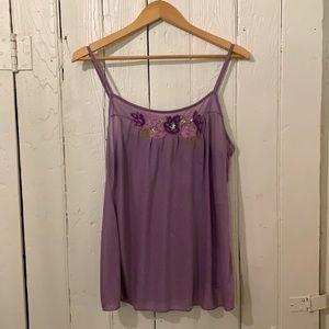 DKNY purple tank top